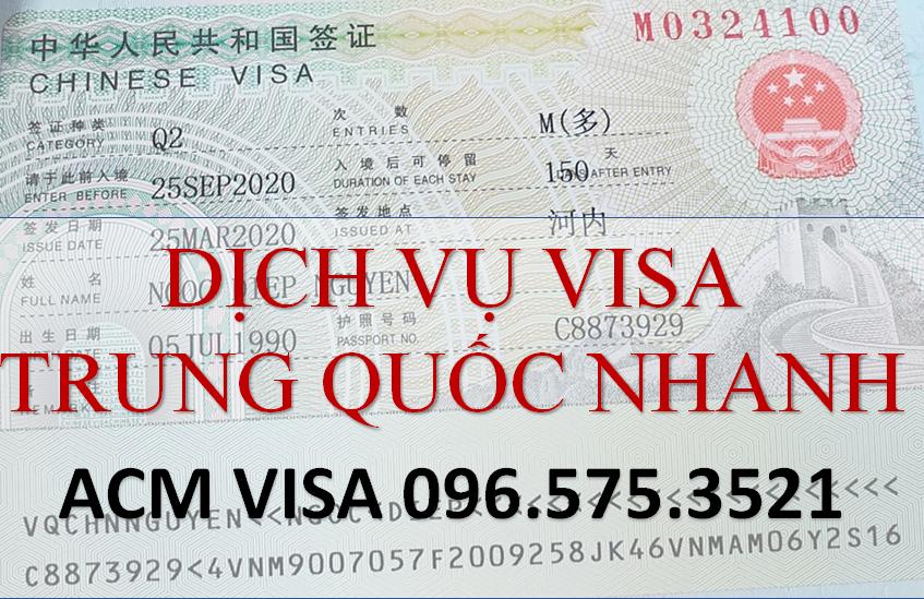 Dịch vụ làm nhanh Visa Trung Quốc